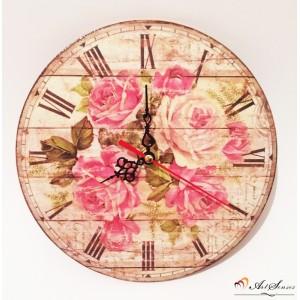 """Стенен часовник """"Рози"""""""