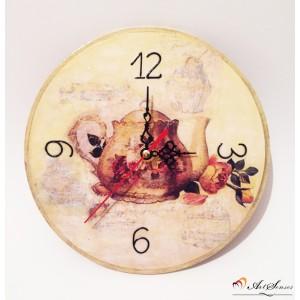 """Стенен часовник """"Време за чай"""""""