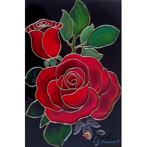 """Стъклопис """"Червени рози"""""""
