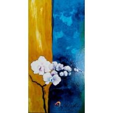 """Стъклопис """"Дъждовни орхидеи"""""""