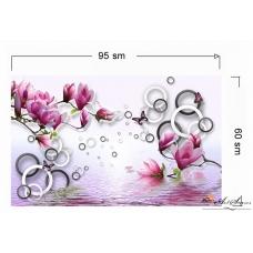 3d Стикер за стена - Магнолии