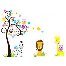 Животни и дърво