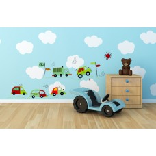 """Детски стикер за стена """"Камиончета"""""""