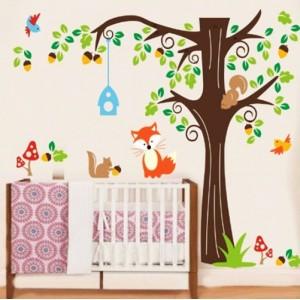 """Детски стикер за стена """"Катерички на дърво"""""""