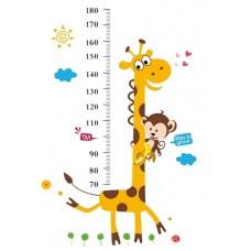 """Детски стикер за стена """"Мерителен жираф"""""""
