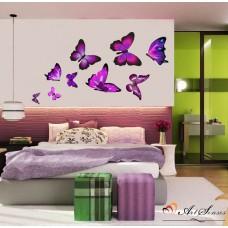 "Стикер за стена ""Пеперуди лилави"""