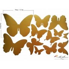 """Стикер за стена """"Златни Пеперуди"""""""