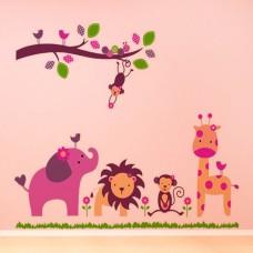 """Детски стикер за стена """"Весела компания"""""""