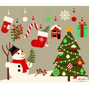 Стикер пано за стена Коледа 4