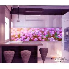 За кухня стикер пано - Лилави цветя