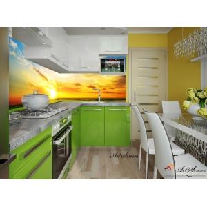 За кухня стикер пано - Залез
