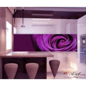 Стикер пано за кухня - Лилава роза