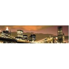Стикер пано - Град 4 в цвят Мока