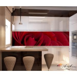 Стикер за кухня пано - Червена роза 2