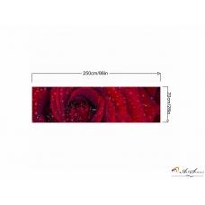 Стикер пано за кухня - Червена роза 4