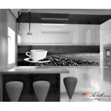 Стикер пано за кухня - Кафе 2 в черно-бяло
