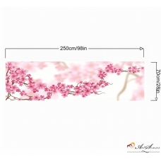 Стикер пано за кухня - Вишневи цветове 2