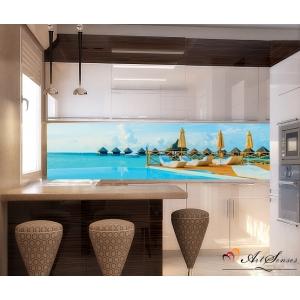 Стикер пано за кухня - Малдиви