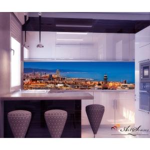 Стикер пано за кухня - Град 5 Барселона