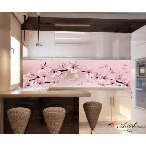 Стикер пано за кухня - Вишневи цветове