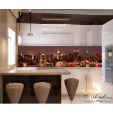 Стикер пано за кухня - Град 8 Ню Йорк цвят Какао