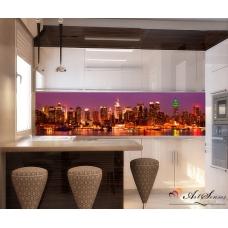 Стикер пано за кухня - Град 8 Ню Йорк в Лилаво