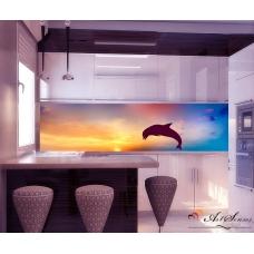 Стикер пано за кухня - Делфин