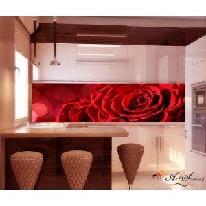Стикер пано за кухня - Червена роза 5