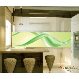 Стикер пано за кухня - Абстракция в зелено