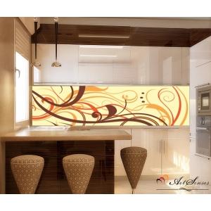 Стикер пано за кухня - Абстракция в кафяво