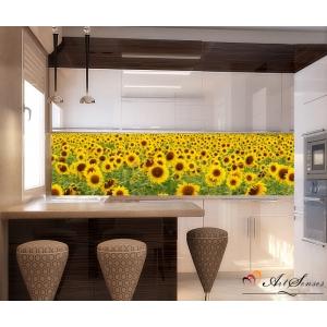 Стикер за стена пано Слънчогледи 1