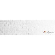 Стикер за стена пано - Бели тухли
