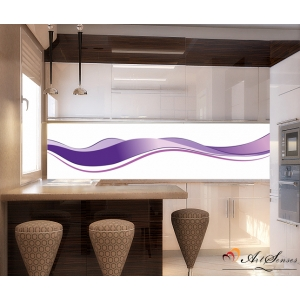 Стикер пано за кухня - Абстракция в лилаво