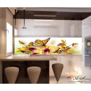 Стикер пано за кухня - Орхидеи 12