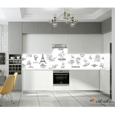 Стикер пано за гръб на кухня - Париж 4