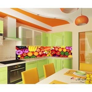 Стикер пано за гръб на кухня - Плодове и зеленчуци