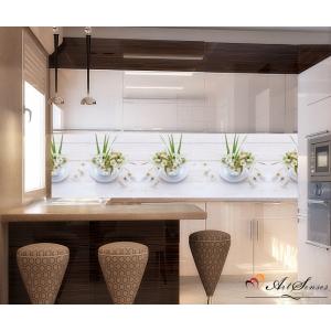 Стикер пано за гръб на кухня - Маргаритки 9