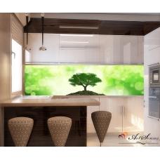 Стикер пано за гръб на кухня - Дърво