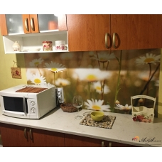 Стикер пано за кухня - Маргаритки 3