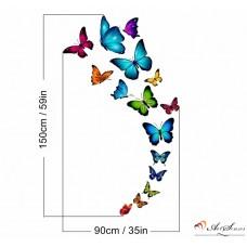 """Стикер за стена """"Пеперуди многоцветни"""""""