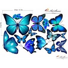 """Стикер за стена """"Пеперуди сини"""""""