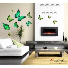 """Стикер за стена """"Пеперуди зелени"""""""